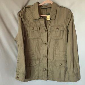 Eddie Bauer safari Utility Jacket Size L